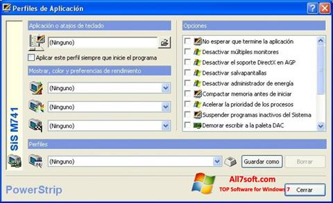 Captura de pantalla PowerStrip para Windows 7
