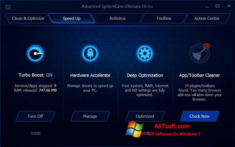 Captura de pantalla Advanced SystemCare Ultimate para Windows 7