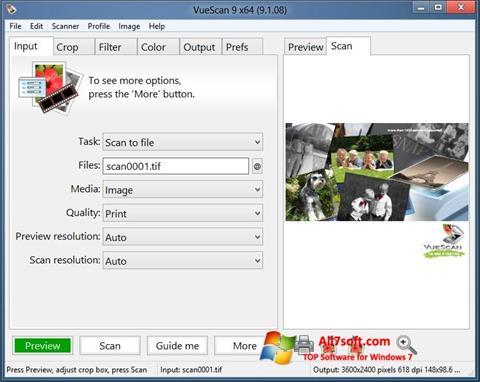 Captura de pantalla VueScan para Windows 7