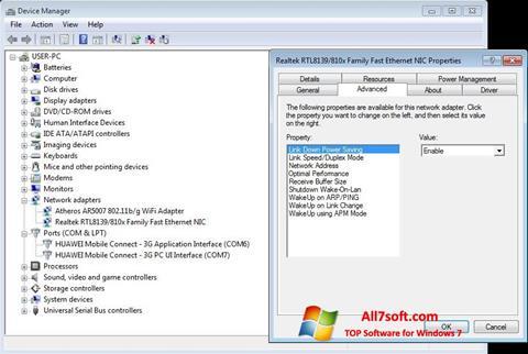 Captura de pantalla REALTEK RTL8139 para Windows 7