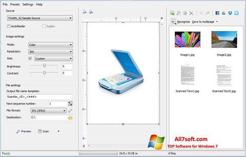 Captura de pantalla WinScan2PDF para Windows 7