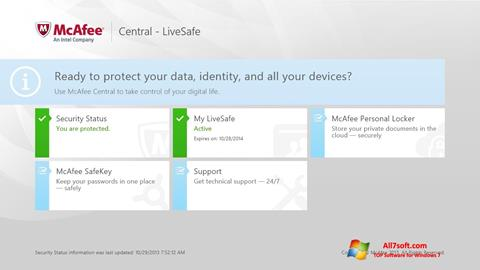 Captura de pantalla McAfee LiveSafe para Windows 7