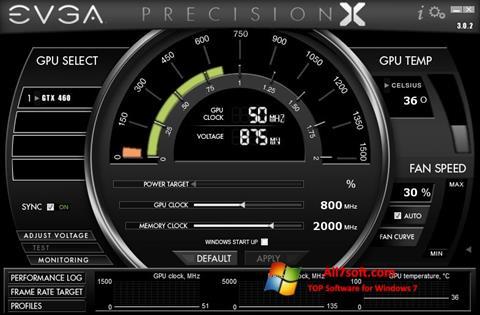 Captura de pantalla EVGA Precision X para Windows 7
