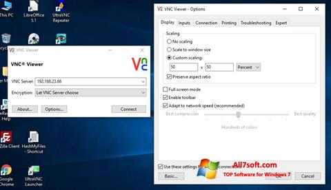 Captura de pantalla VNC para Windows 7