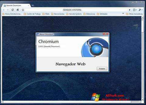 Captura de pantalla Chromium para Windows 7