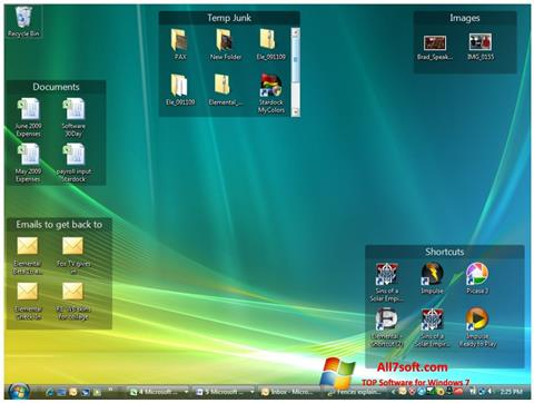 Captura de pantalla Fences para Windows 7