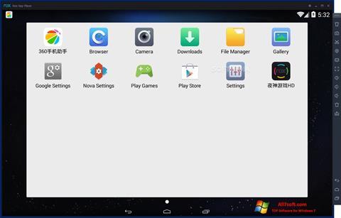 Captura de pantalla Nox App Player para Windows 7