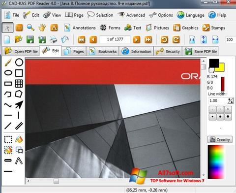 Captura de pantalla PDF Reader para Windows 7