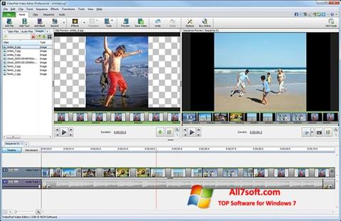 Captura de pantalla VideoPad Video Editor para Windows 7