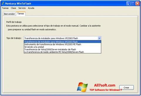 Captura de pantalla WinToFlash para Windows 7