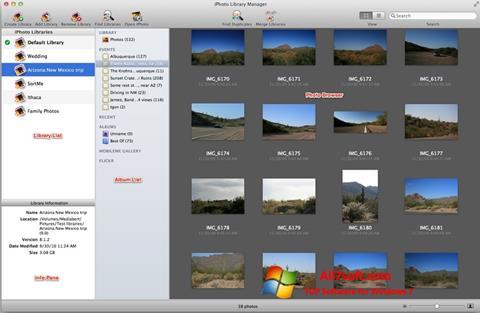 Captura de pantalla iPhoto para Windows 7