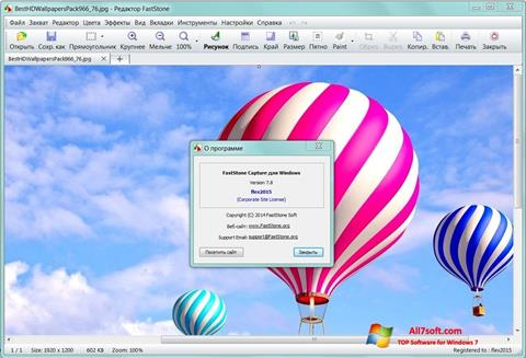 Captura de pantalla FastStone Capture para Windows 7