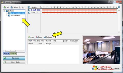 Captura de pantalla D-ViewCam para Windows 7