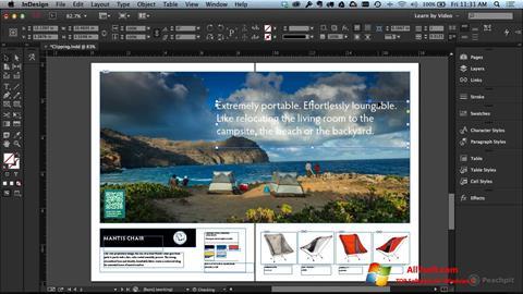 Captura de pantalla Adobe InDesign para Windows 7