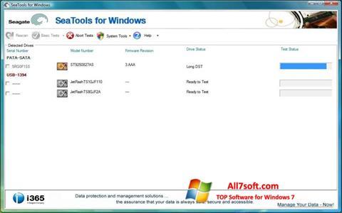 Captura de pantalla Seagate SeaTools para Windows 7