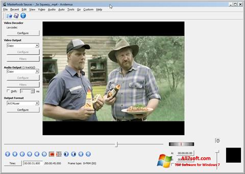 Captura de pantalla Avidemux para Windows 7