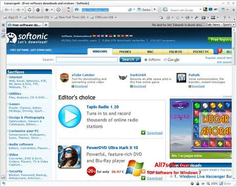 Captura de pantalla Lunascape para Windows 7