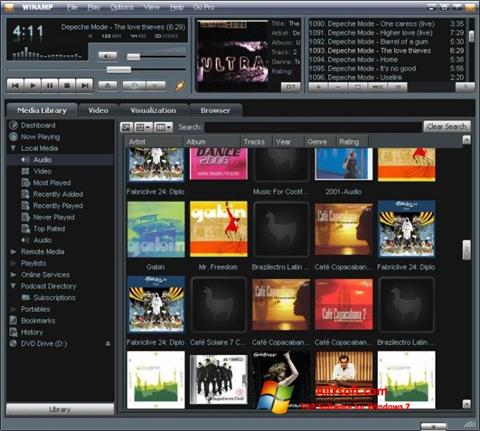 Captura de pantalla Winamp para Windows 7