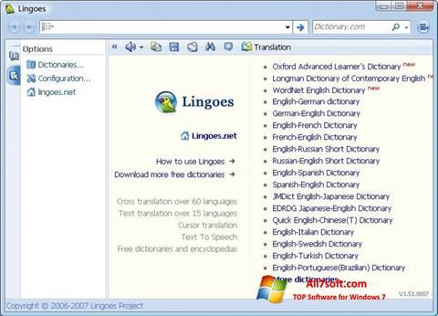 Captura de pantalla Lingoes para Windows 7