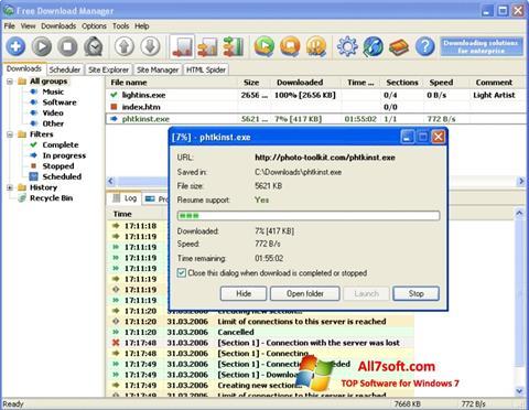 Captura de pantalla Download Master para Windows 7