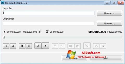 Captura de pantalla Free Audio Dub para Windows 7