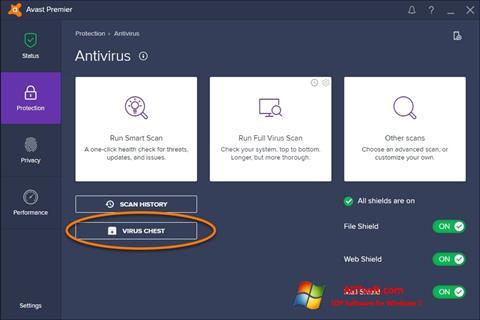 Captura de pantalla Avast para Windows 7