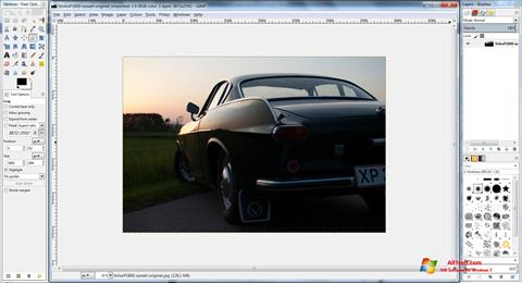 Captura de pantalla GIMP para Windows 7