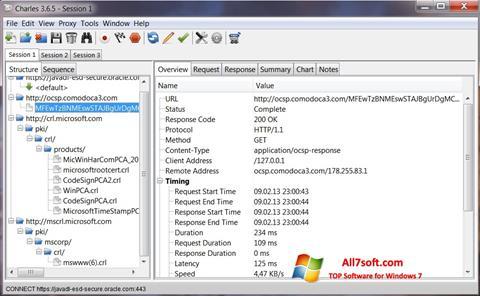 Captura de pantalla Charles para Windows 7