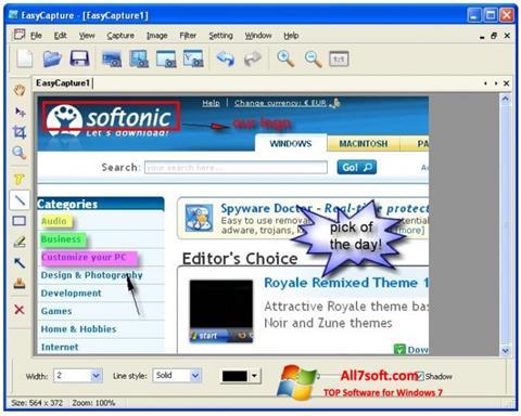 Captura de pantalla EasyCapture para Windows 7