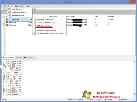 Captura de pantalla Proxifier para Windows 7