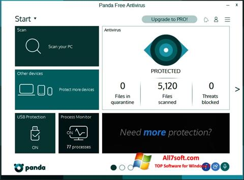 Captura de pantalla Panda para Windows 7