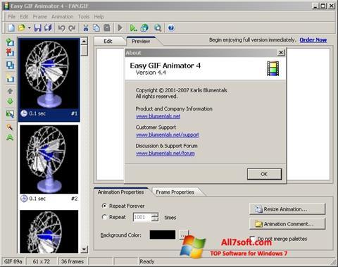 Captura de pantalla Easy GIF Animator para Windows 7