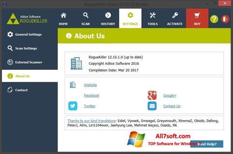 Captura de pantalla RogueKiller para Windows 7
