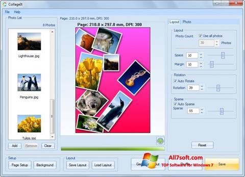 Captura de pantalla CollageIt para Windows 7