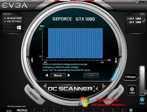 Captura de pantalla EVGA Precision para Windows 7