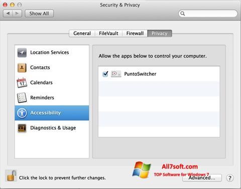 Captura de pantalla Punto Switcher para Windows 7