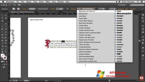 Captura de pantalla Adobe Illustrator para Windows 7