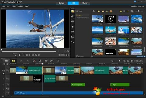 Captura de pantalla Corel VideoStudio para Windows 7