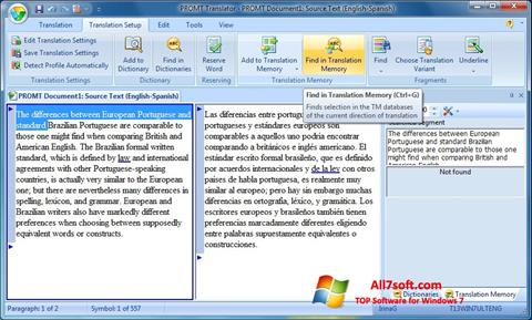Captura de pantalla PROMT para Windows 7