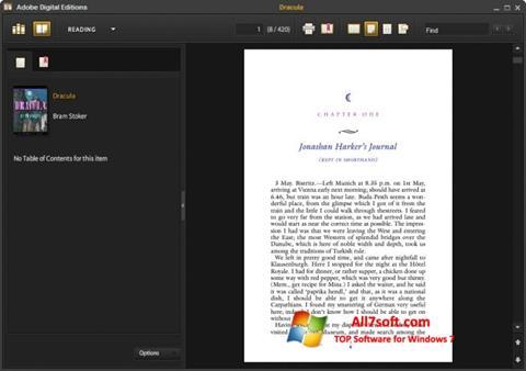 Captura de pantalla Adobe Digital Editions para Windows 7