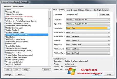Captura de pantalla X-Mouse Button Control para Windows 7