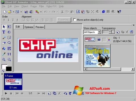 Captura de pantalla Ulead GIF Animator para Windows 7