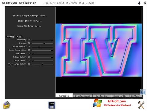 Captura de pantalla CrazyBump para Windows 7