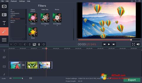 Captura de pantalla Movavi Video Suite para Windows 7