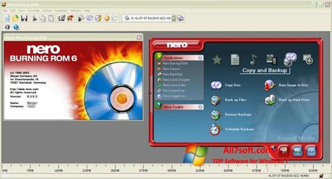 Captura de pantalla Nero Burning ROM para Windows 7