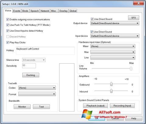Captura de pantalla Ventrilo para Windows 7