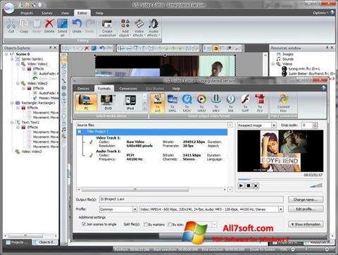 Captura de pantalla Free Video Editor para Windows 7