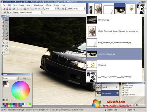 Captura de pantalla Paint.NET para Windows 7