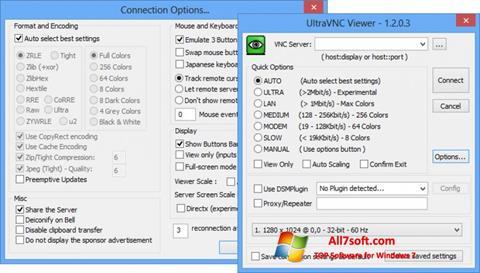 Captura de pantalla UltraVNC para Windows 7