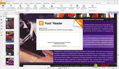 Captura de pantalla Foxit Reader para Windows 7
